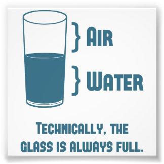 Tekniskt är exponeringsglaset alltid fullt fototryck