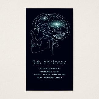 teknologi som beräknar, går runt hjärnvisitkorten visitkort