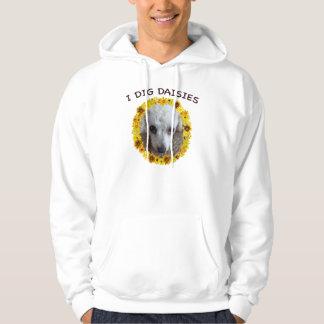 Tekopppudelhunden gräver daisy tröja med luva