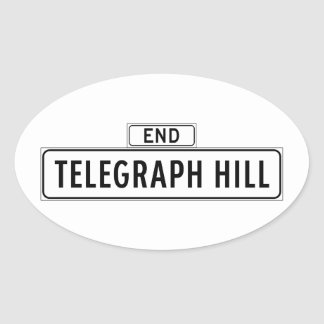 Telegrafera backen, den San Francisco gatan Ovalt Klistermärke