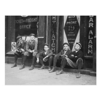 Telegram Budbärare, 1910 Vykort