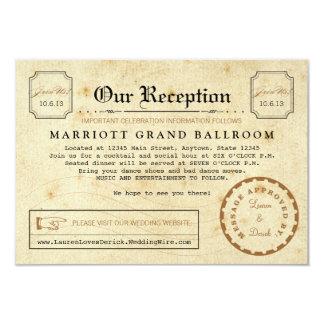 Telegrammottagandet efter party reser 8,9 x 12,7 cm inbjudningskort
