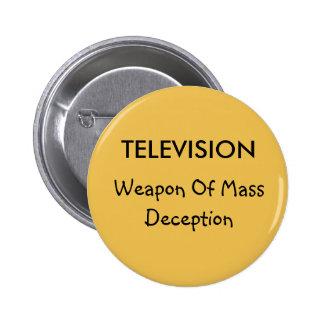 Televisionen och bedrägeri knäppas standard knapp rund 5.7 cm