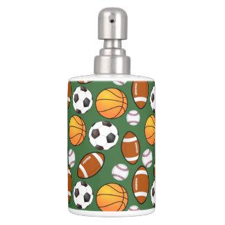 Tema för sportar för basket för badrum set
