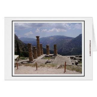Tempel av Apollo Hälsningskort
