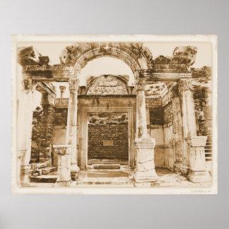 Tempel av Hadrian, Ephesus AFFISCH