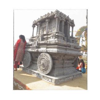 Tempel för hantverk för miniatyrstatysten av india anteckningsblock