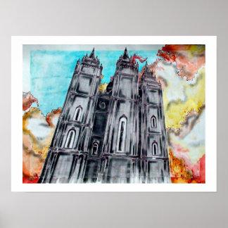 Tempel för LDS Salt Lake City Poster