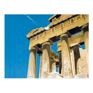 Tempel för vintage resorAthens Grekland Parthenon Vykort