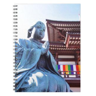 Tempel i Tokyo, Japan Anteckningsbok