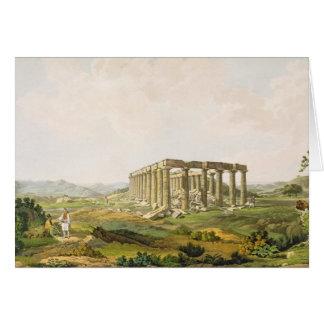 Tempelet av Apollo Epicurius, pläterar 25 från del Hälsningskort