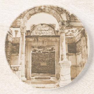 Tempelet av Hadrian i Ephesus VINTAGE fotograferar Underlägg
