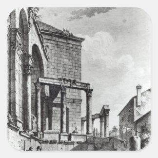 Tempelet av Jupiter i slotten av Fyrkantigt Klistermärke