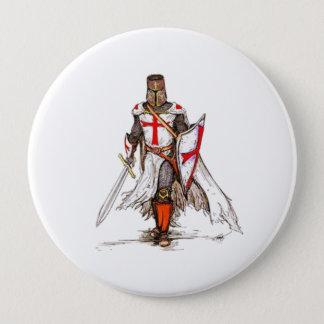 Templar riddare stor knapp rund 10.2 cm