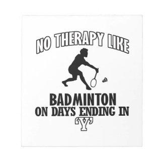 Tendera Badmintondesigner Anteckningsblock