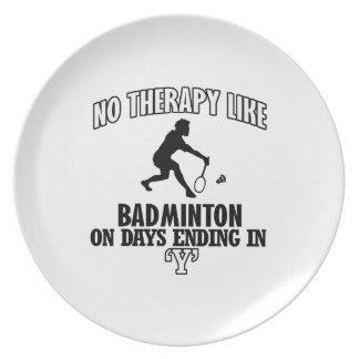 Tendera Badmintondesigner Tallrik