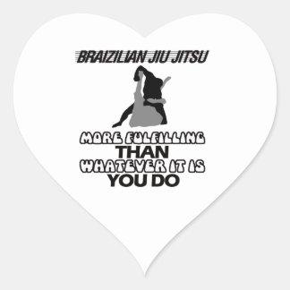 Tendera Jiu Jitsu DESIGNER Hjärtformat Klistermärke