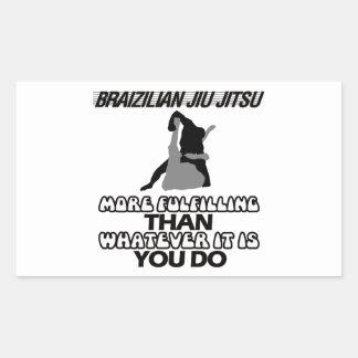 Tendera Jiu Jitsu DESIGNER Rektangulärt Klistermärke