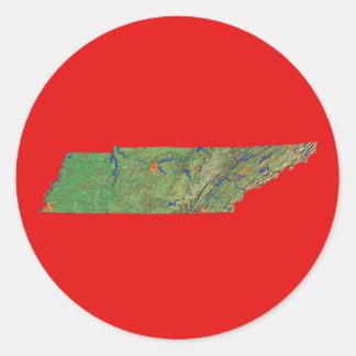 Tennessee kartaklistermärke runt klistermärke