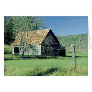 Tennessee ladugård hälsningskort