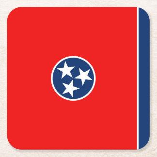 Tennessee statlig flaggadesign underlägg papper kvadrat