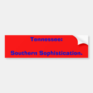 Tennessee: Sydlig Sophistication. Bildekal