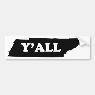 Tennessee Yall Bildekal