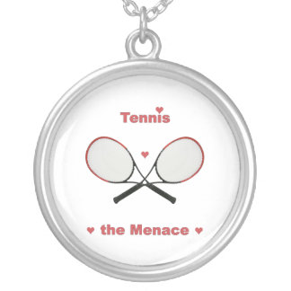 Tennis hothjärtorna silverpläterat halsband