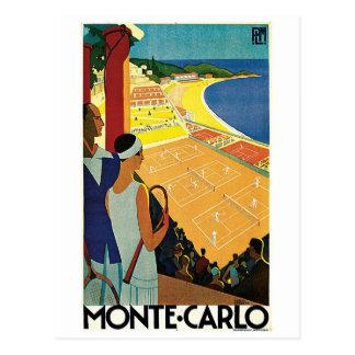 Tennis på Monte - carlo Vykort