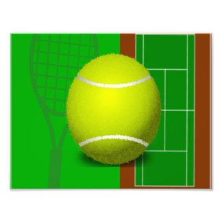 Tennisbana och Racquets Fototryck