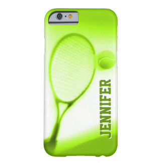 Tennisboll- och racketsportar görar grön fodral barely there iPhone 6 skal