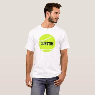 Tennisboll och textmanar grundläggande T-tröja för Tee