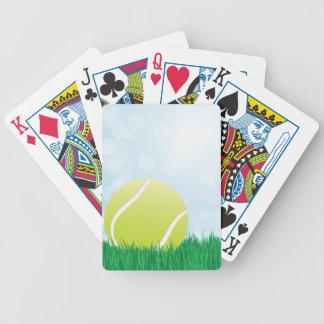 tennisboll på gräs spelkort