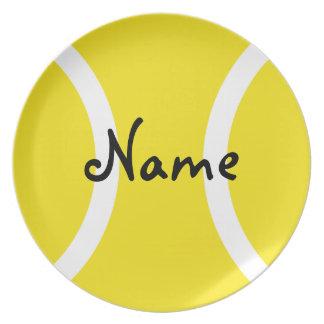 Tennisboll pläterar - den unika gåvan med ditt nam tallrik