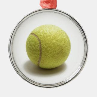 Tennisboll Rund Silverfärgad Julgransprydnad