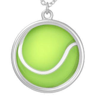 Tennisboll Silverpläterat Halsband