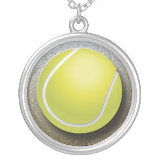 Tennisbollhalsband Silverpläterat Halsband