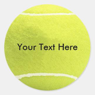 Tennisbollklistermärkear Runda Klistermärken