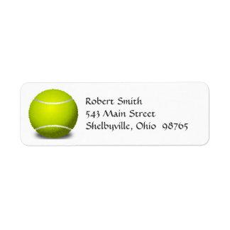Tennisbollreturetiketter Returadress Etikett