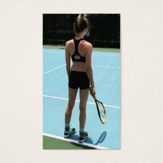 Tenniskursvisitkort Visitkort
