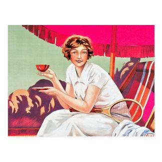 Tenniskvinna från den Phoscao annonsen Vykort