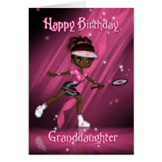 Tennisspelare för sondotterfödelsedagkort - Tweens Hälsningskort