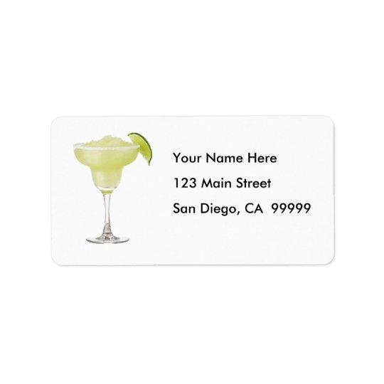 Tequilalimefrukt Slushie Adressetikett