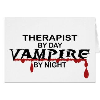 Terapeutvampyr vid natt hälsningskort