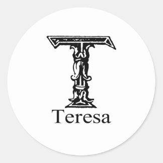 Teresa Runt Klistermärke