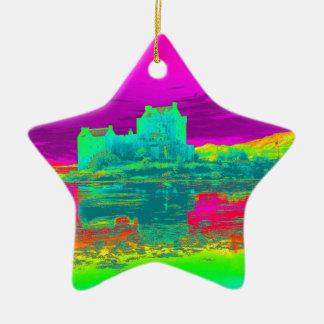 Termiskt Eilean Donan slott Julgransprydnad Keramik