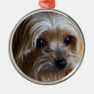 Terrier för dam Yorkshire Julgransprydnad Metall