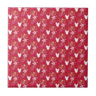 Terrier för konfettidiamanttjur kakelplatta