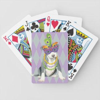 Terrier för Mardi Gras groptjur Spelkort