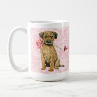 Terrier för valentinrogräns kaffemugg